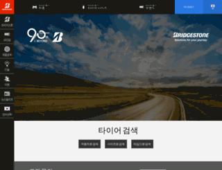 bridgestone-korea.co.kr screenshot