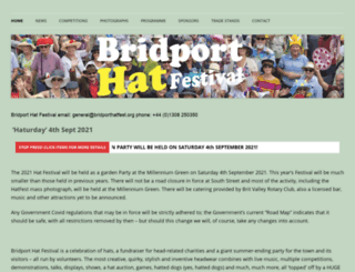 bridporthatfest.org screenshot