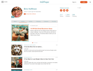 brie-hoffman.hubpages.com screenshot