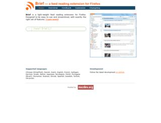brief.mozdev.org screenshot