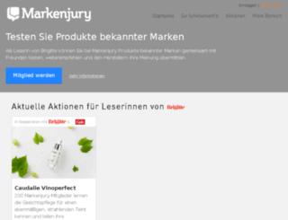 brigitte.markenjury.de screenshot