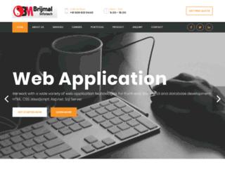brijmalinfotech.com screenshot