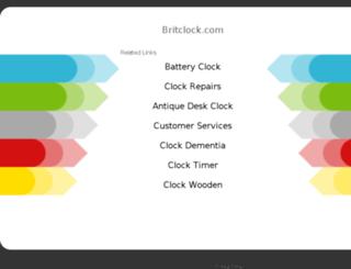 britclock.com screenshot