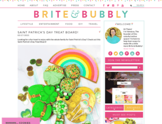 briteandbubbly.com screenshot