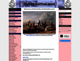britishbattles.com screenshot