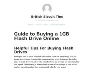 britishbiscuittins.co.uk screenshot