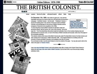 britishcolonist.ca screenshot