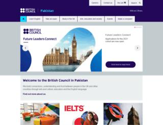 britishcouncil.pk screenshot