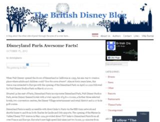 britishdisneyblog.com screenshot