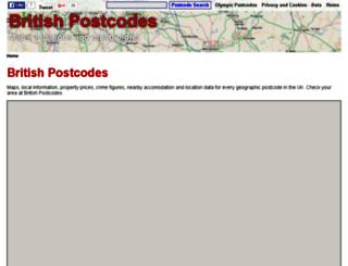 britishpostcodes.info screenshot