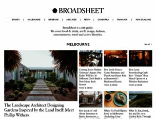 broadsheet.com.au screenshot