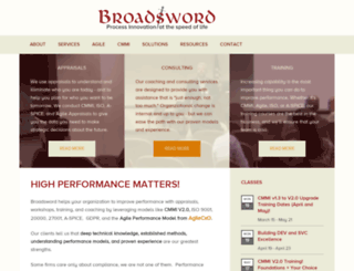 broadswordsolutions.com screenshot