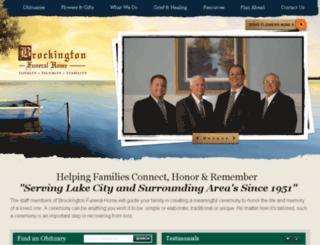 brockingtonfh.com screenshot