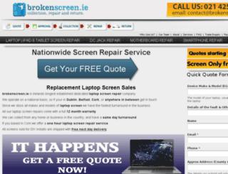 brokenscreen.ie screenshot