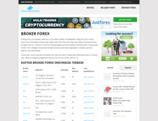 brokerforexindonesia.com screenshot