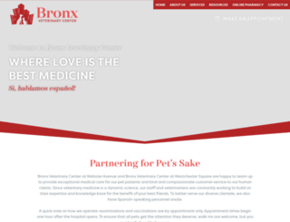 bronxvetcenter.com screenshot