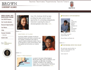 brown.theleadershipalliance.org screenshot