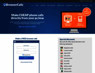 browsercalls.com screenshot