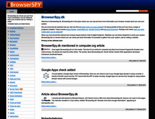 browserspy.dk screenshot