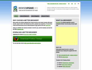 browserupgrade.info screenshot