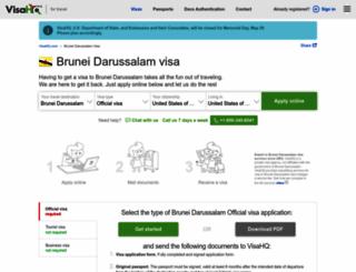 brunei-darussalam.visahq.com screenshot