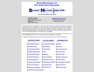 brunelmicroscopes.co.uk screenshot