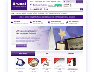 bruneltrophies.co.uk screenshot