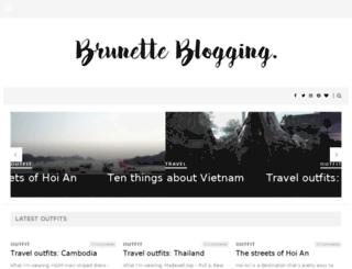 brunetteblogging.com screenshot