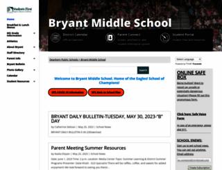 bryant.dearbornschools.org screenshot