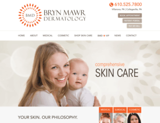 brynmawrdermatology.com screenshot