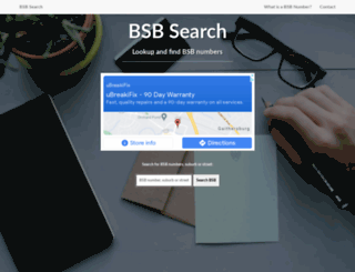 bsbnumber.com screenshot