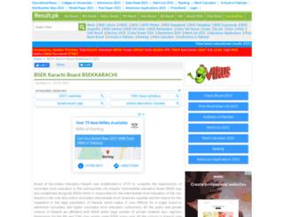 bsekkarachi.result2015.pk screenshot