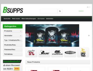 bsupps.de screenshot