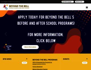 btb.lausd.net screenshot