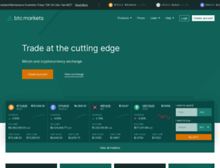 btcmarkets.net screenshot