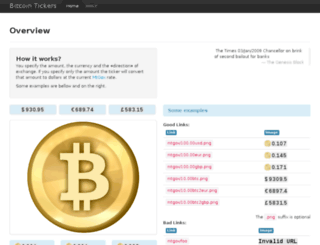 btcticker.appspot.com screenshot