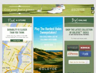 bts.goldtoe.com screenshot