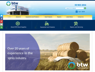 btwspray.com.au screenshot