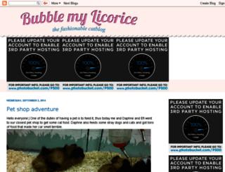 bubblemylicorice.blogspot.com screenshot