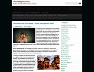 bubblyprofessor.com screenshot