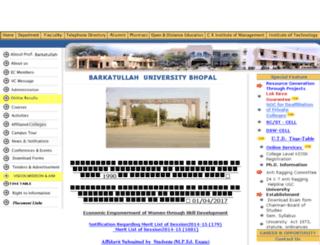 bubhopal.nic.in screenshot