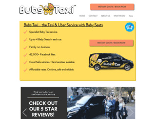 bubstaxi.com.au screenshot