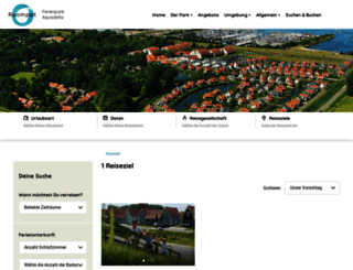 buchen1.ferienparkaquadelta.de screenshot
