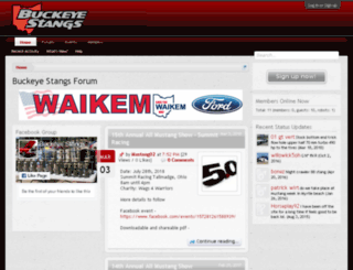 buckeyestangs.com screenshot
