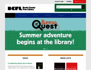 buckslib.org screenshot