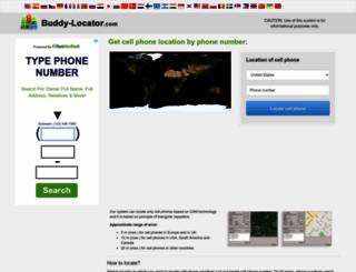 buddy-locator.com screenshot