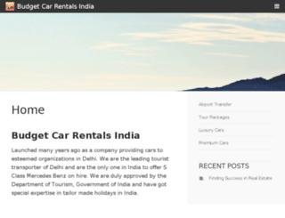 budget-car-rentals-india.com screenshot
