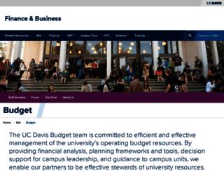 budget.ucdavis.edu screenshot