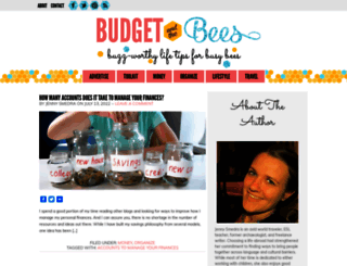 budgetandthebees.com screenshot