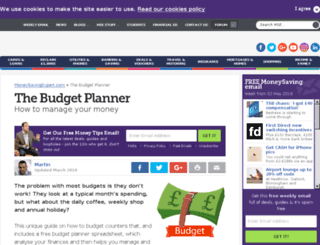 budgetbrain.com screenshot